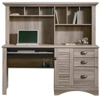 Teknik Louvre Hutch Desk - (w) 1585mm x (d) 597mm