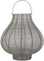 Large Glowray Silver And Grey Bulbous Wire Lantern