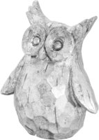 Olive The Silver Ceramic Owl