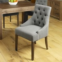 Shiro Walnut Accent Upholstered Dining Chair - Slate (Pack Of Two)