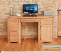 Roscoe Contemporary Oak Home Office Desk