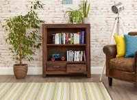 Mayan Walnut Low Bookcase