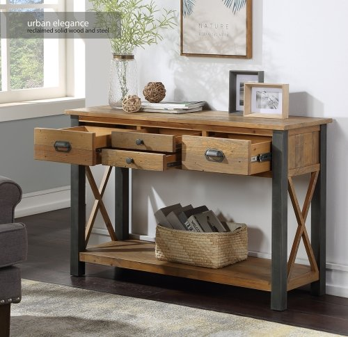 Urban Elegance Reclaimed Console Table