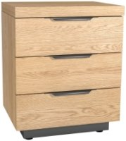 Meribel 3 Drawer Bedside Cabinet