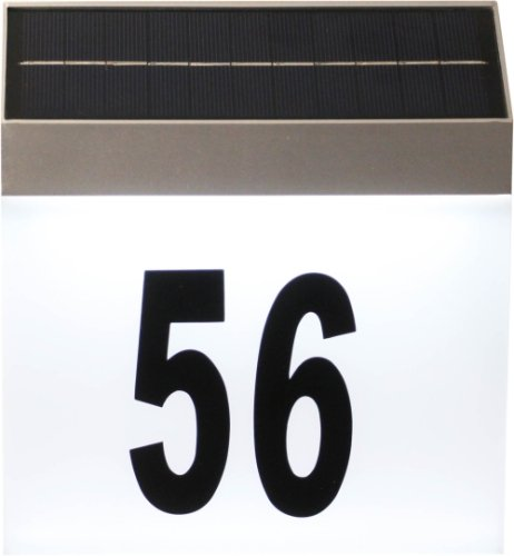 Luxform Lighting Solar Cornwall House Number Wall Light