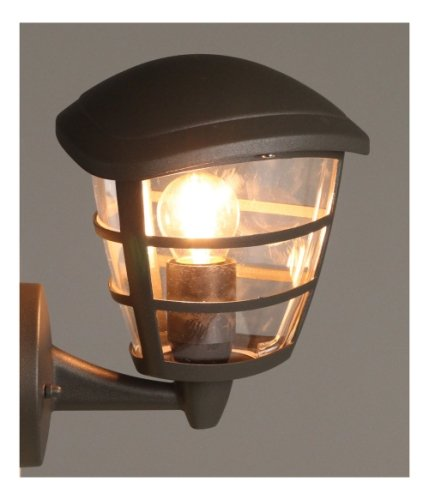 Luxform Lighting 230v Brussells Wall Light Up In Anthracite