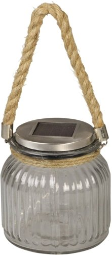 Luxform Lighting Glass Jar Led Solar Light With Rope