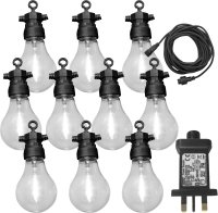 Luxform Lighting Tahiti 24v 10 Pack Party Lights With Warm White Bulbs