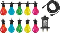 Luxform Lighting Maui 24v 10 Pack Party Lights With Multi-coloured Bulbs