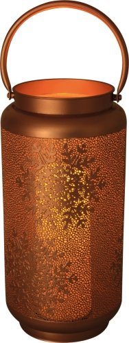 Luxform Battery Golden Lantern With Snowflakes Design