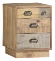 Brooklyn Loft Bedside Cabinet with Plinth Base