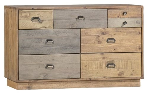 Brooklyn Loft 7 Drawer Wide Chest with Plinth Base