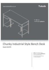 Industrial Style Chunky Bench Desk Smoked Oak Instructions