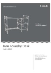 Iron Foundry Desk Instructions