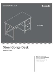 Steel Gorge Desk Instructions