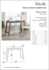 Trestle Desk Summer Oak