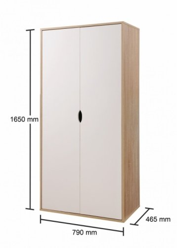 Alton 2 Door Wardrobe - White