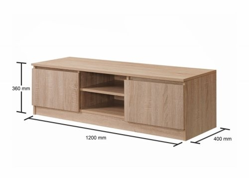Essentials 120cm Tv Cabinet - Oak