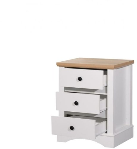 Carden Nightstand With 3 Drawers - White