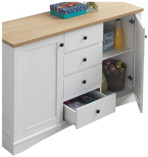 Carden Sideboard With 2 Doors & 3 Drawers - White