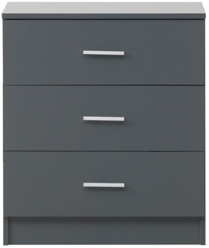 Rio Costa 3 Drawer Chest - Grey