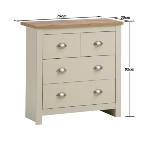 Lisbon 3 Piece Set (2 Door Wardrobe, 2+2 Chest, 2 Drawer Bedside)