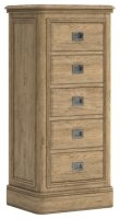 Dallas 5 Drawer Tall Chest of Drawers