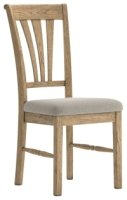 Dallas Dining Chair with Almond Seat Pad (Sold in Pairs)