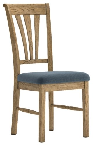 Dallas Dining Chair with Slate Seat Pad (Sold in Pairs)